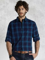 11464669738389-Roadster-Tonal-Blue-Checked-Casual-Shirt-681464669738157-1